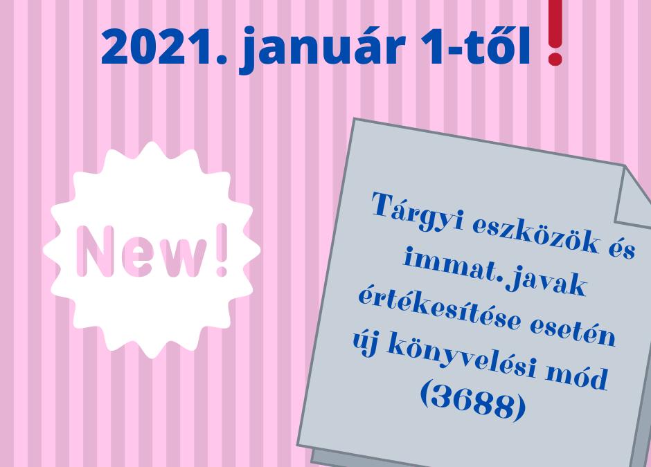 Tárgyi eszköz értékesítés 2021-től